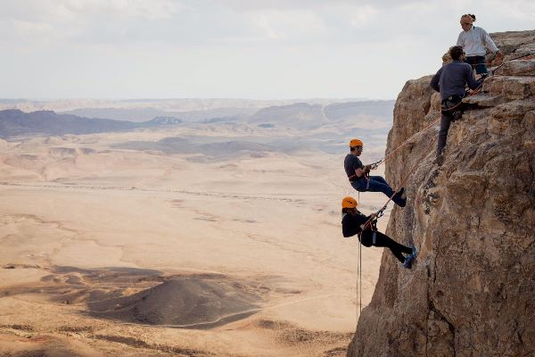 Rappelling  Ramon Crater